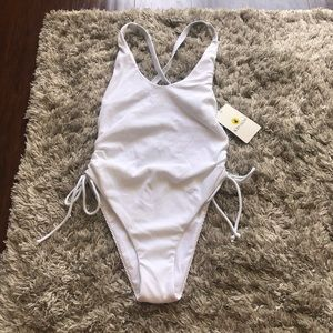Body Glove White Missy One Piece Bathing Suit